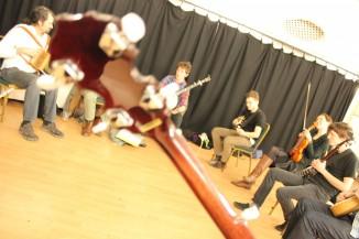 Learning tunes at Chats Palace