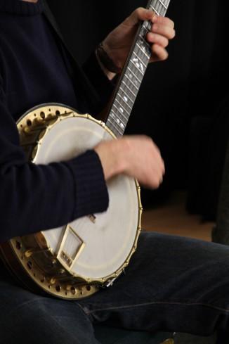 Ed Hicks playing banjo