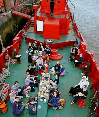 The Sea Shanty choir recording on Lightship 95